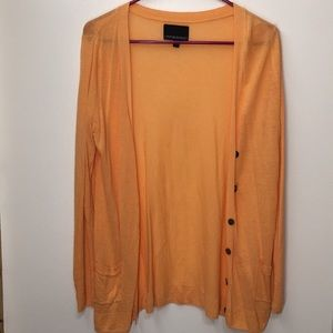 Light orange cardigan